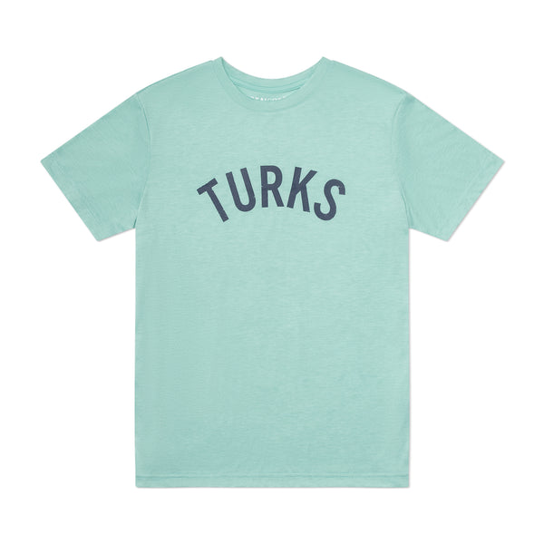 Teal Lightweight Breathable TShirt Navy Turks Vintage Print Turks and Caicos Flaylat