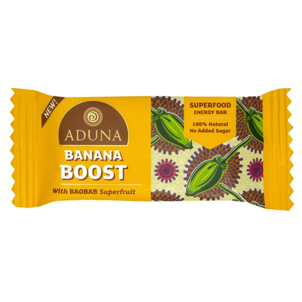 Aduna Baobab banana boost energy bar