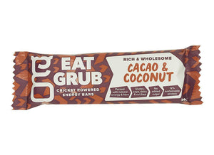 EatGrub Cricket Coconut and Cacao energy bar