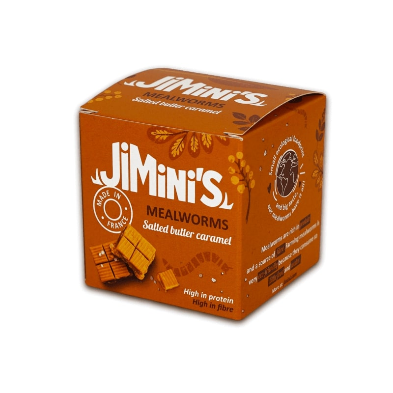 Jimini's - Mealworms Salted butter & caramel