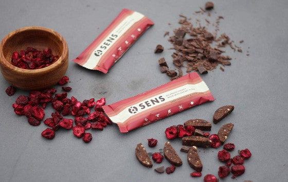 Sens Dark Choco & Sour Cherry energy bar