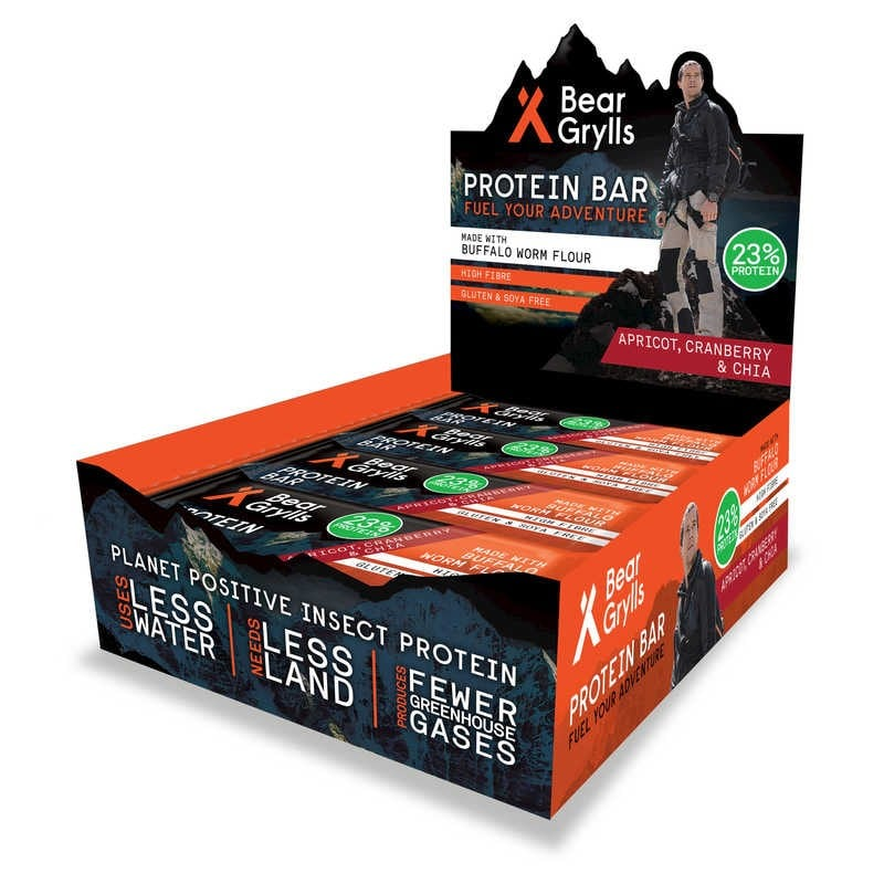 Bear Grylls Protein Bar - Apricot, Cranberry & Chia