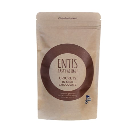 Entis - Milk chocolate covered crickets