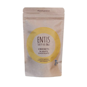 Entis - White chocolate covered crickets