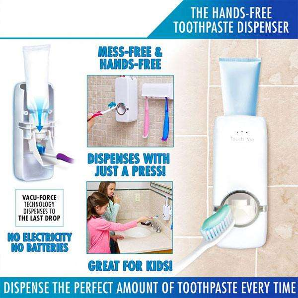 Home Auto Toothpaste Dispenser Holder
