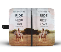 Be Inspired To Ride Wallet Case