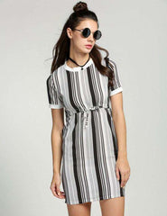 Drawstring Waist Mini Dress