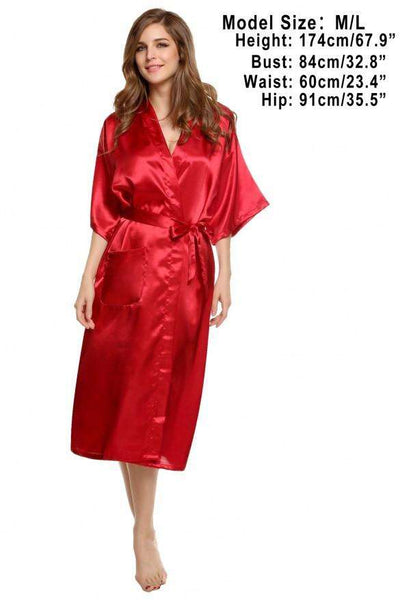 Sleepwear Long Night Dress Gown Robe With Belt