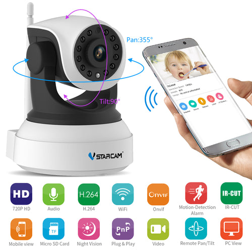 Smartcam™ 720P HD Wireless Wifi IP Camera Motion Detection + Built-in Microphone