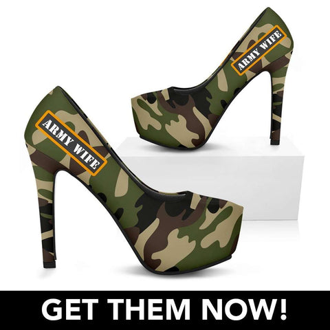 Handmade - Army Wife High Heels