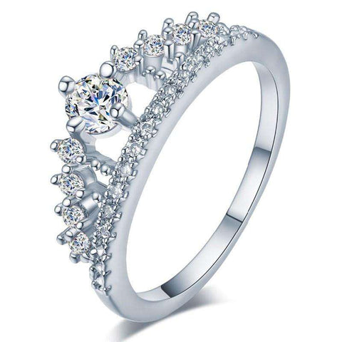 Cubic Zirconia Diamond Ring