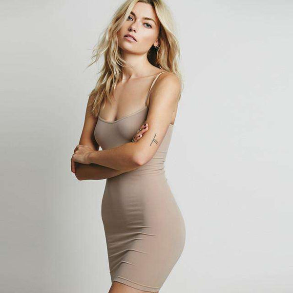 Sexy Stretch Mini Slip Dress
