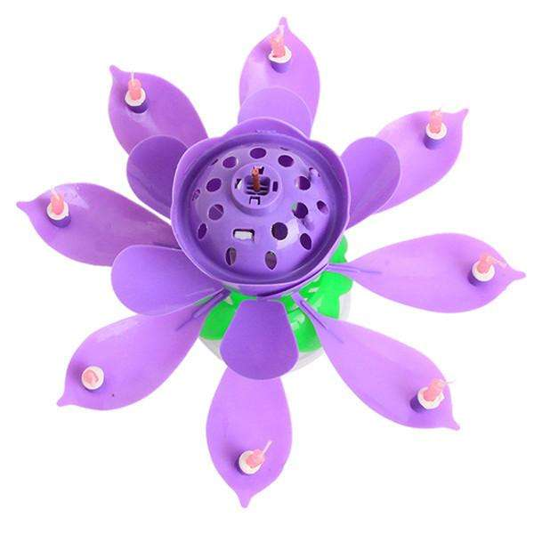 Lotus Flower Musical Candle