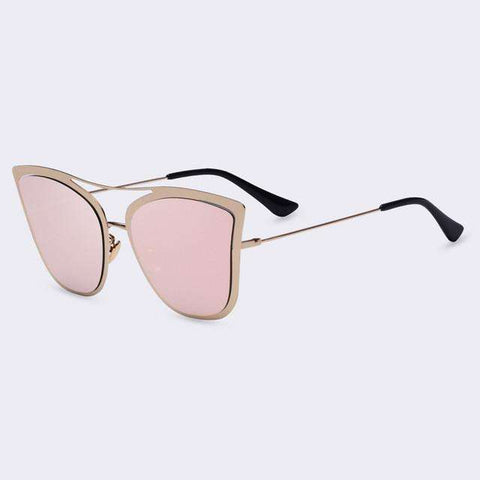 Classic Cat Eye Sunglasses Metal Frame