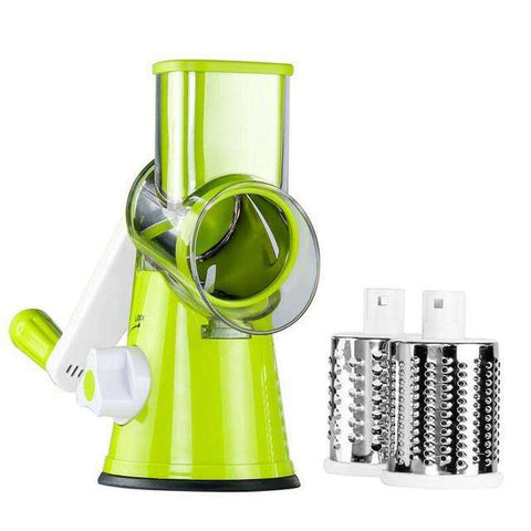 3 in 1 Round Mandoline Vegetable Slicer & Cutter