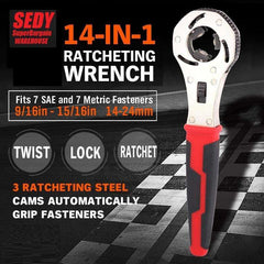 14 in 1 Universal ratchet wrench