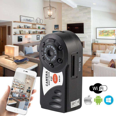 Night Vision Wireless WiFi DVR Camcorder Motion Detection + Built-in Microphone