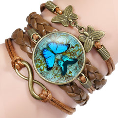 Handmade Leather Butterfly Bracelets