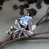 Image of Zircon Gemstone Dragonfly Ring
