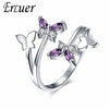 Image of ERLUER Gemstone Butterfly Rings
