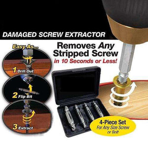 Set of 4Pc Damaged Screw Extractor