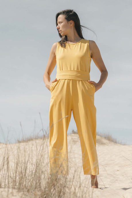 Jumpsuit with front band
