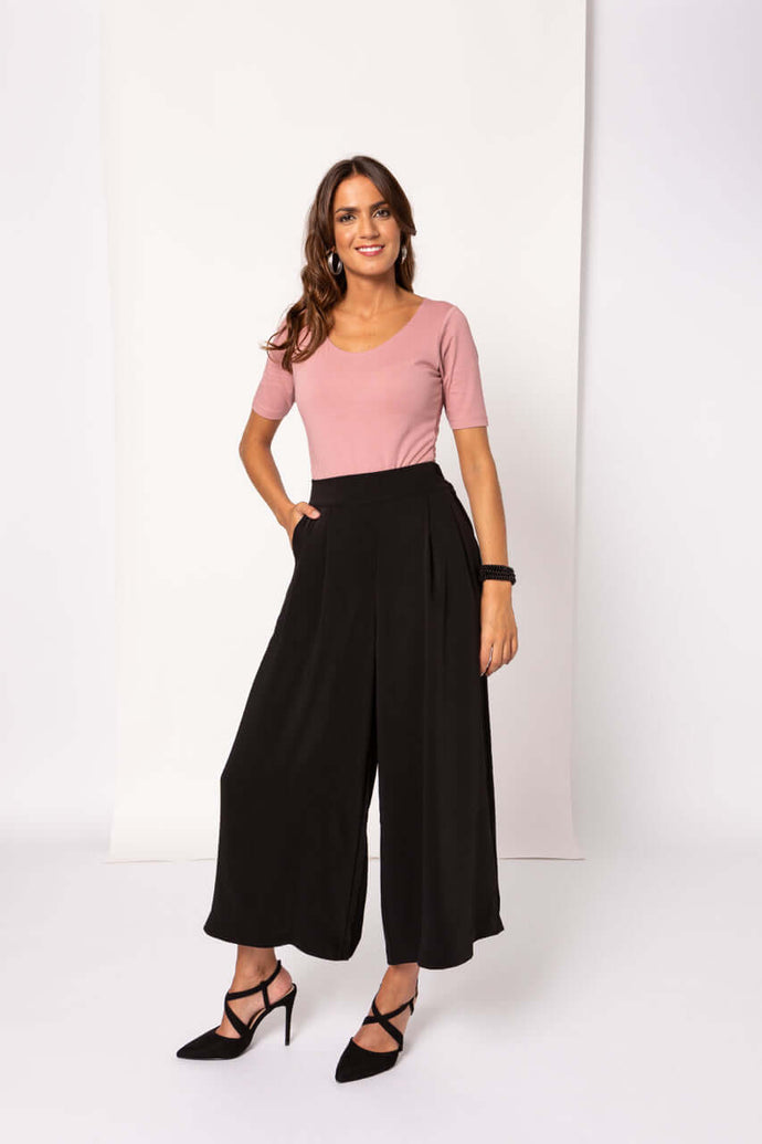 Pantalonas with side buttons