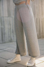 knit trousers gray