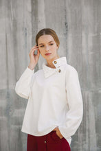 collar sweater off-white