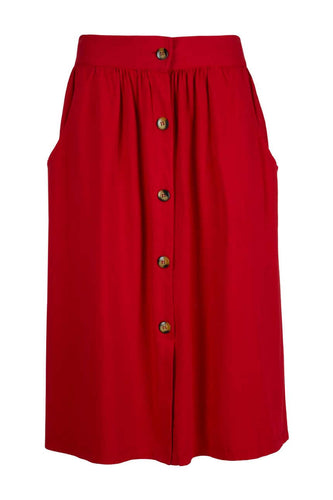 Midi button front skirt