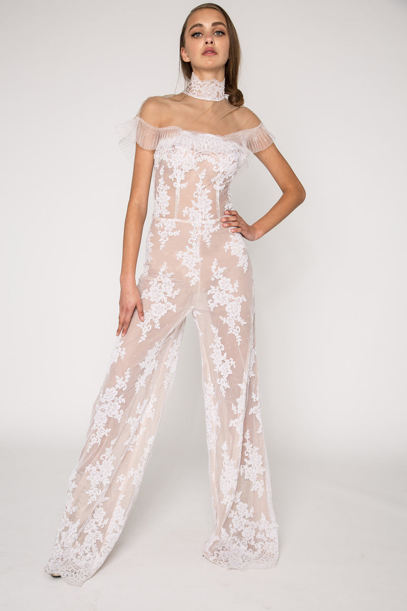 Lace embellished jumpsuit