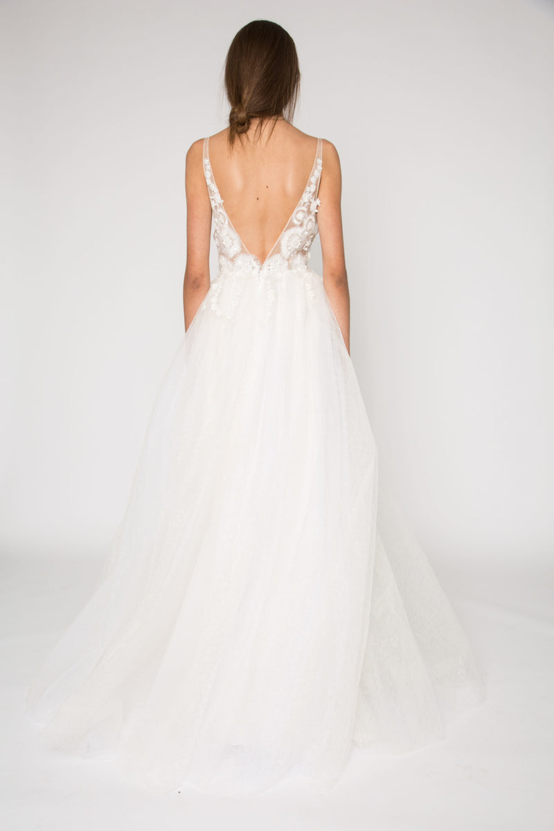 Bridal Ivory lace gown