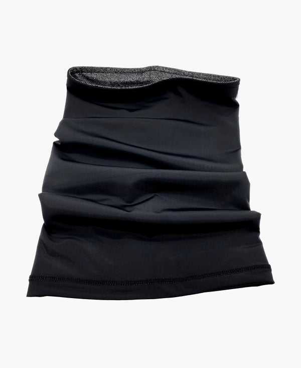 Reversible Black Charcoal Neck Gaiter