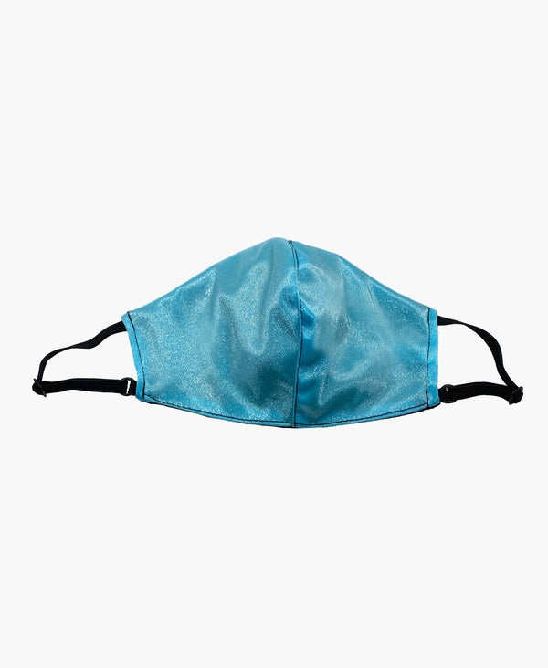Kids Adjustable Baby Blue Black Soft Reversible Mask