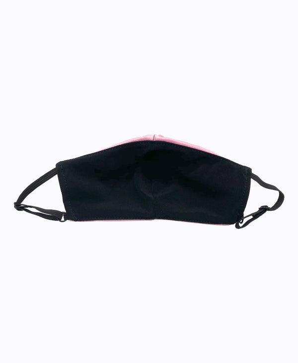 Kids Adjustable Pink Black Soft Reversible Mask
