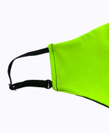 Kids Adjustable Neon Green Soft Reversible Mask