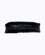 Black Patent Vegan Leather Headband