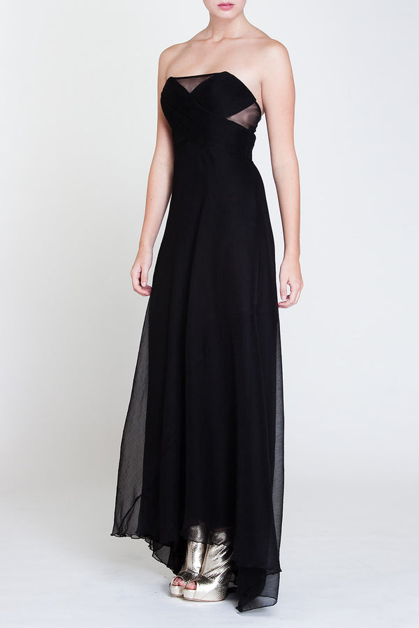 Crepe tail gown