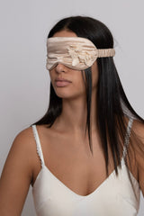 3D Champagne Floral Silk Sleep Eye Masks