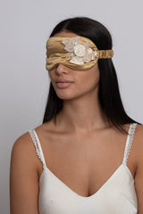 3D Gold Floral Silk Sleep Eye Masks