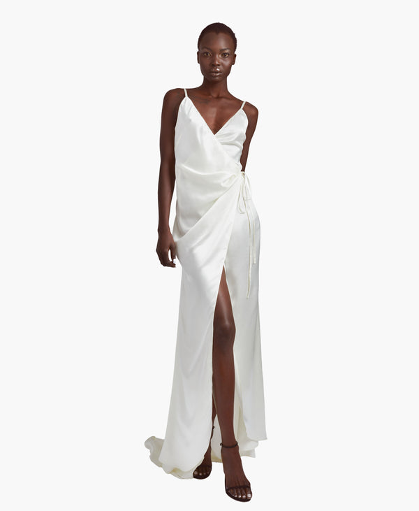 Pearl Silky Wrap Gown