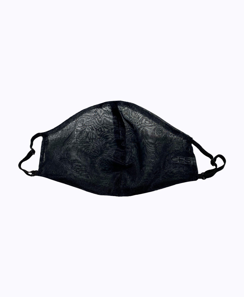 Adjustable Black Organza Super Lightweight Mask