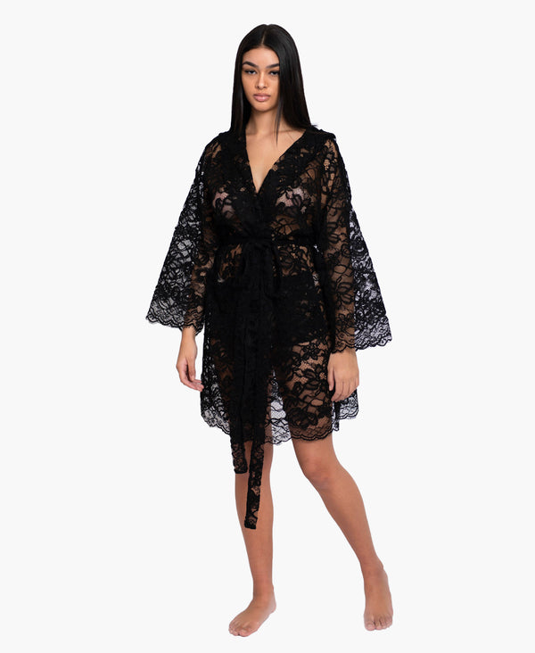 Peace Black Robe Dress