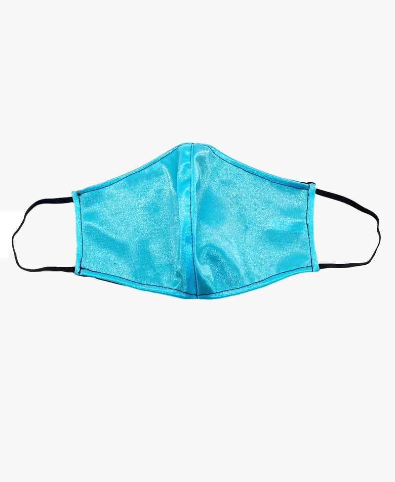 Baby Blue Black Soft Reversible Mask