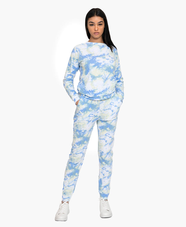 Cloud Tie-dye Terry Sweat Suit