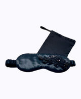 3D Black Floral Silk Sleep Eye Masks