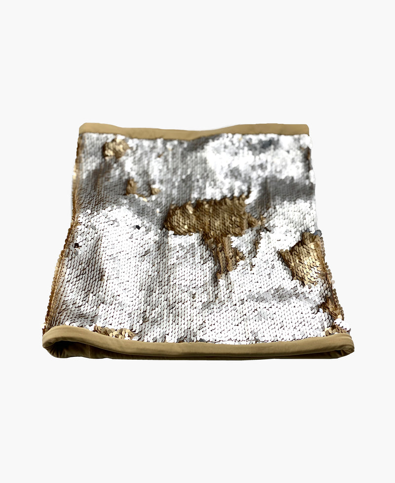 Two Tone Sequin Neck Gaiter