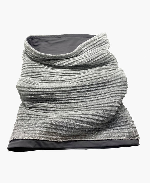 Pleated Metallic Neck Gaiter