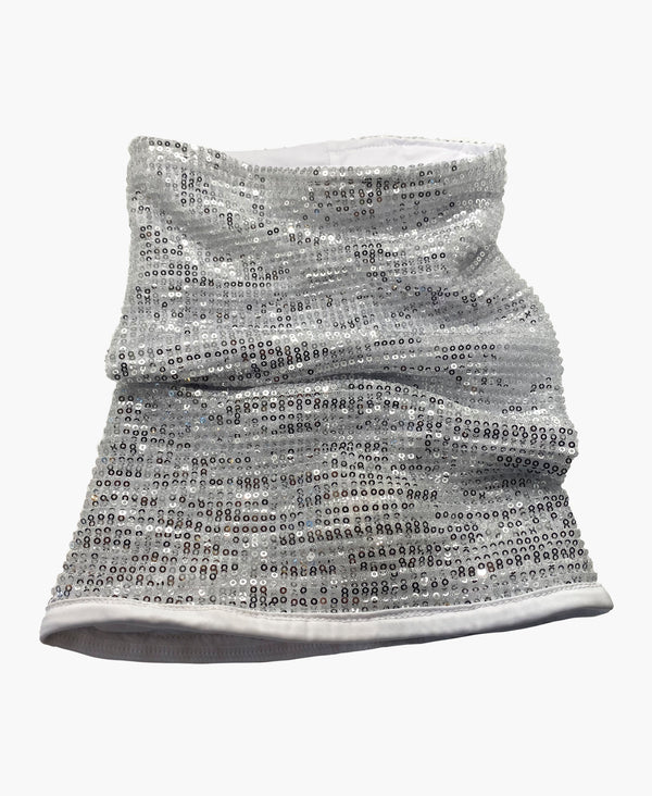 Sequin Pleated Neck Gaiter