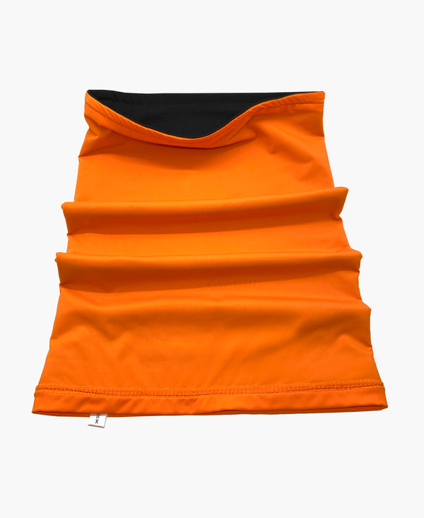 Reversible Orange Black Neck Gaiter